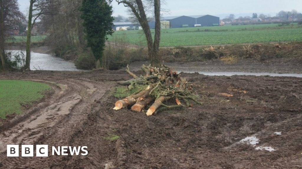 Protected River Lugg was 'bulldozed' in 'wildlife crime'