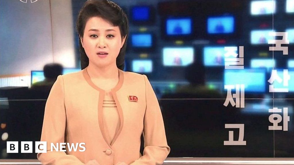 North Korea state TV goes hi-tech for a day - BBC News