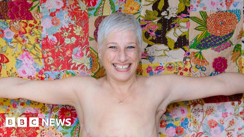 Why I'm happy 'living flat' after breast cancer - BBC News