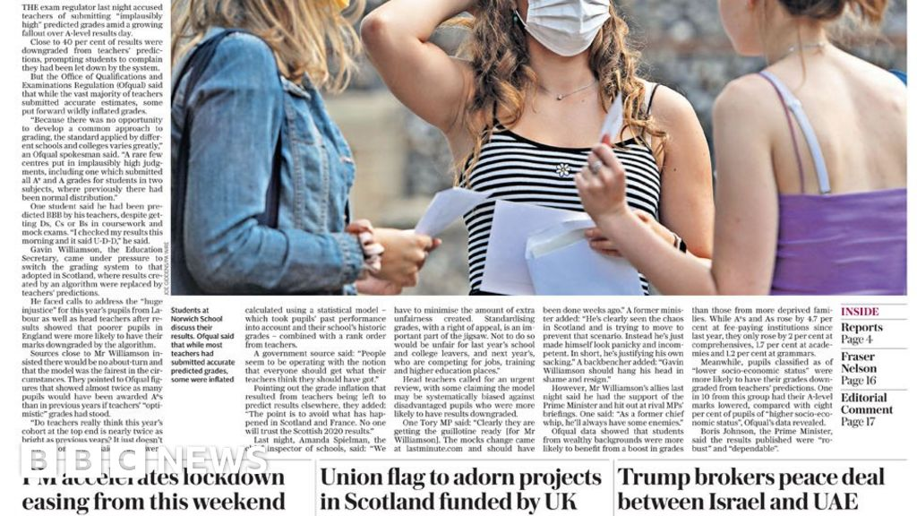 "The Papers: Results ""fiasco"" and new UK quarantine for France"