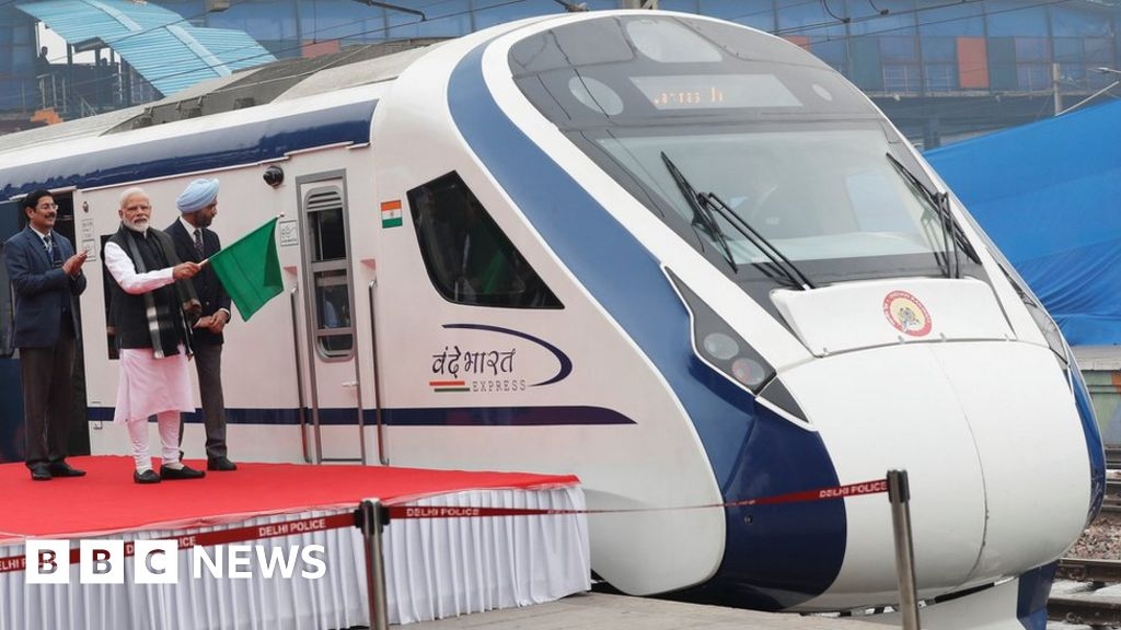 India high speed train breaks down on first trip