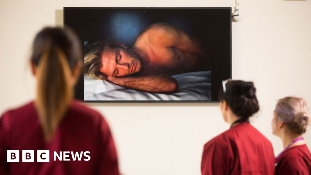 David Beckham film plays at hospital he was born in