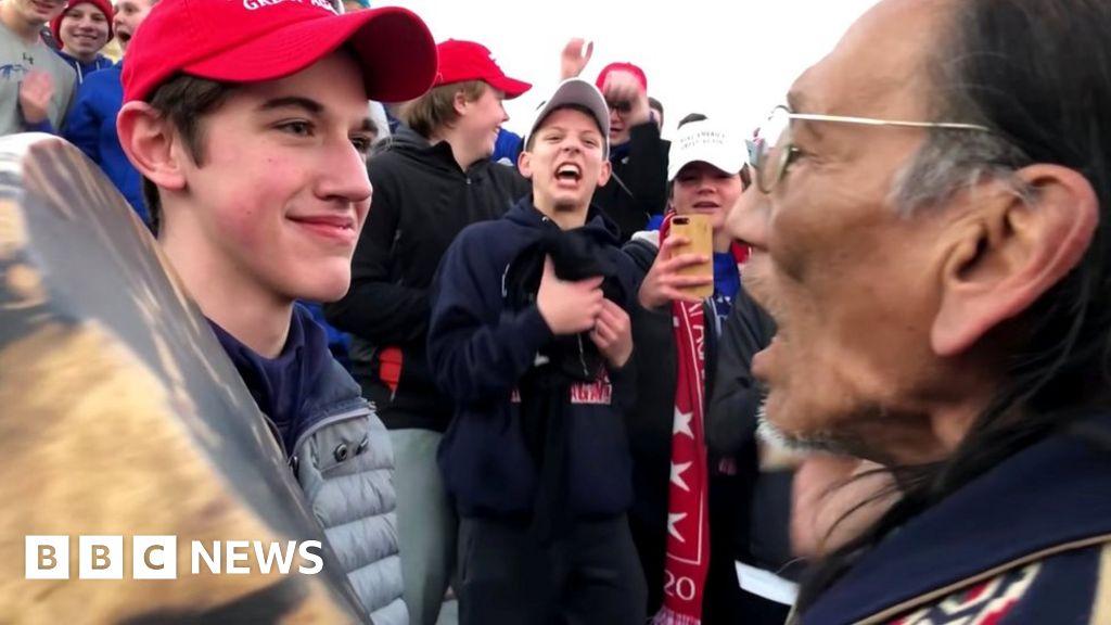 US teen denies mocking Native American
