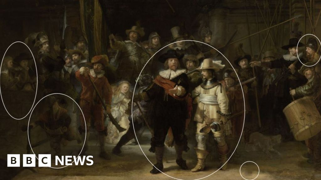 Rembrandt's The Night Watch painting restored by AI