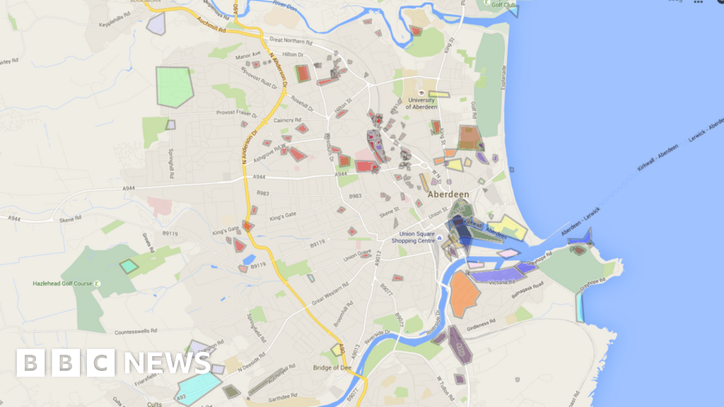 Map charts WW2 bombing of Aberdeen and Aberdeenshire BBC News
