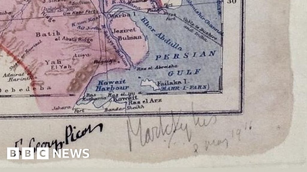 Sykes Picot The Map That Spawned A Century Of Resentment Bbc News