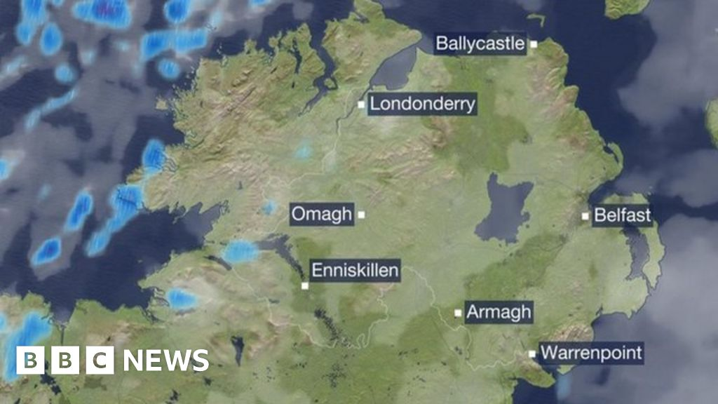 Map Of N Ireland.The Latest Weather Forecast For Northern Ireland