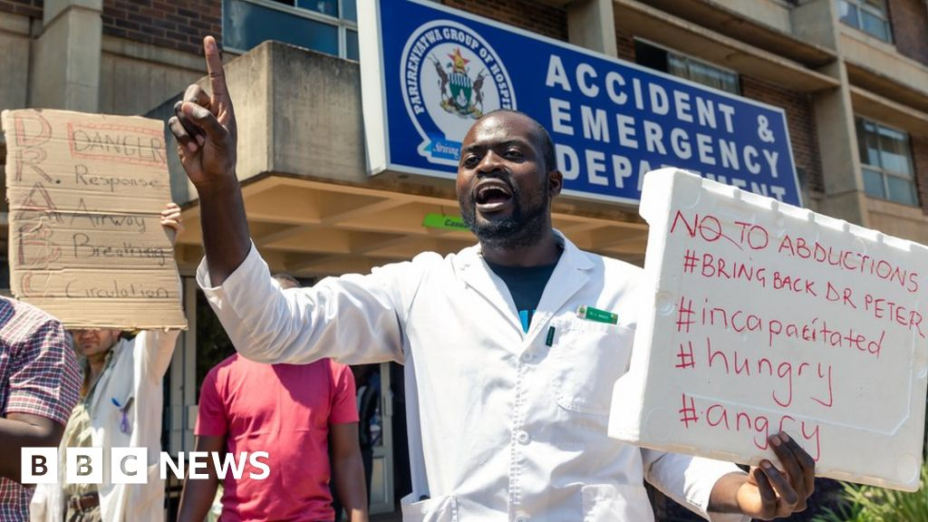 Zimbabwe's health crisis: 'My cousin died as there are no doctors'