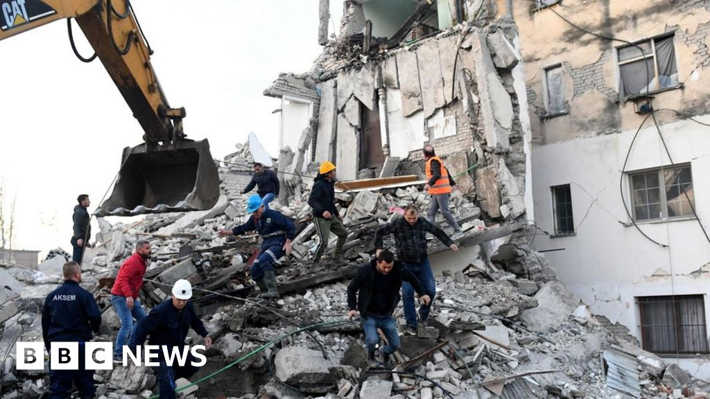 Albania earthquake: Rescuers search into the night after deadly tremor