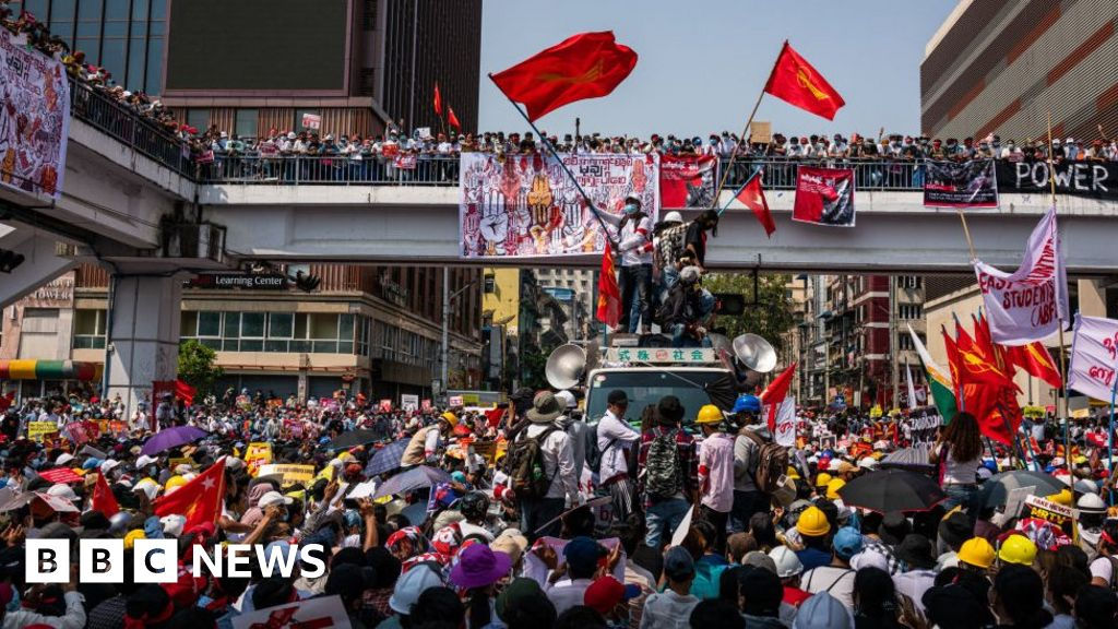 Myanmar coup: Firms quit office block with military ties