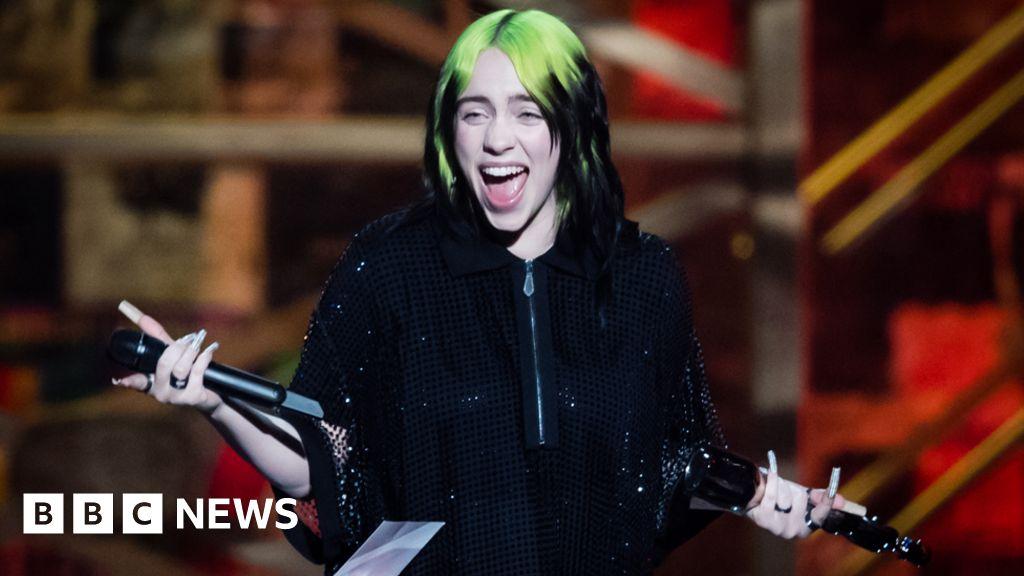 Billie Eilish lands number one with James Bond theme - BBC News