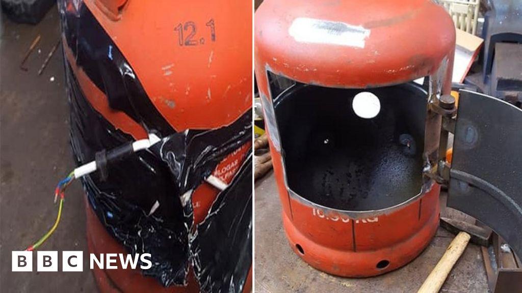 Police seize 'hoax bomb' log burner