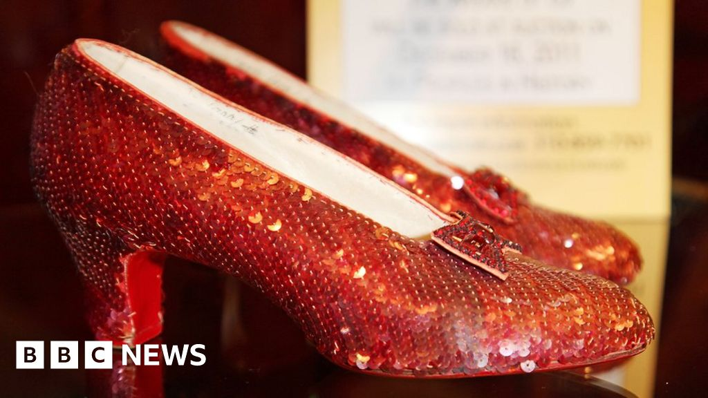 5cc5944a03bd Judy Garland s stolen ruby slippers found after 13 years - BBC News