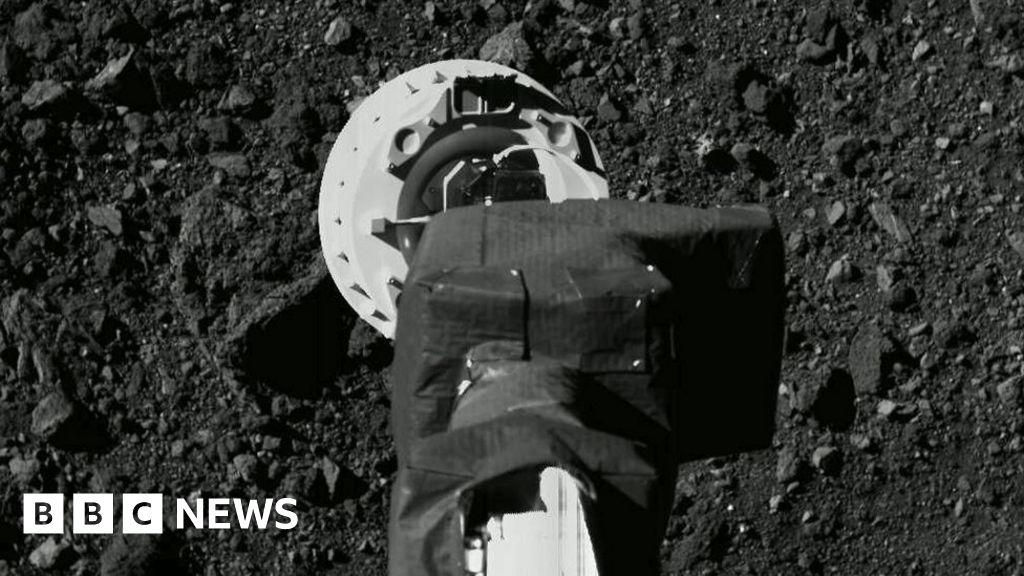 Nasa's Osiris-Rex probe touches asteroid Bennu in sample bid