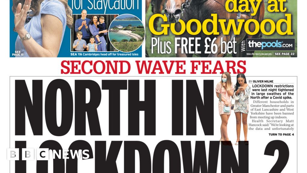 Newspaper headlines: 'North in lockdown 2', and dementia 'can be halted'