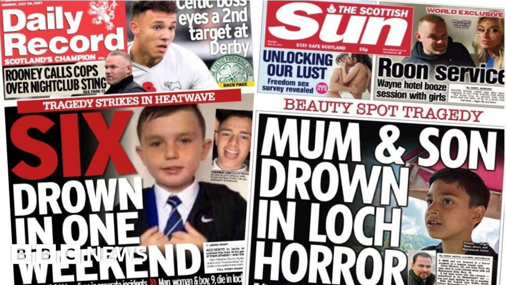 Scotland's papers: weekend of tragedy in the country's lochs and rivers