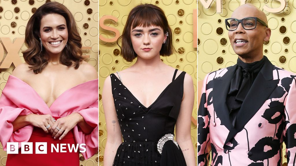 Television stars walk the Emmys red carpet