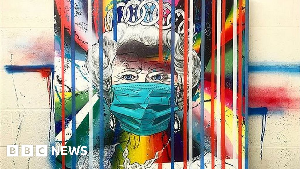 Coronavirus: Artist adds Queen in face mask to collection