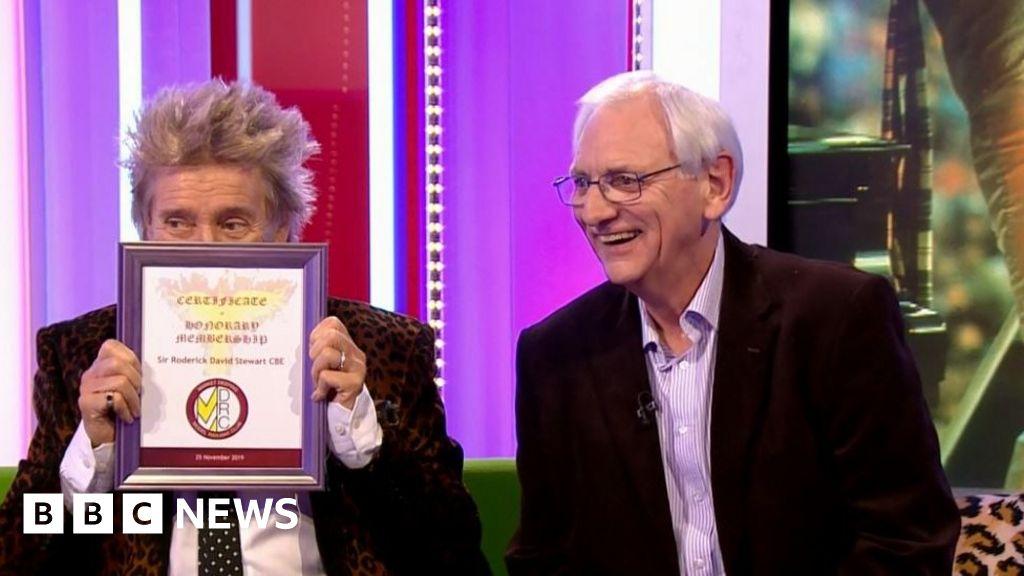 Sir Rod gets honorary membership of model railway club