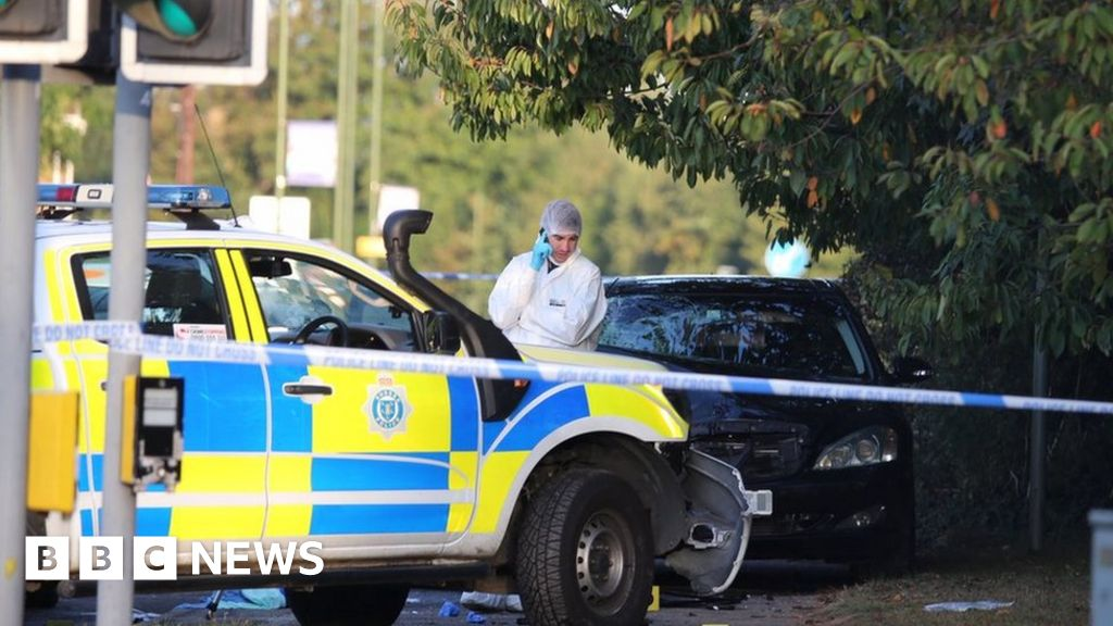 Littlehampton crash: Man held after two police officers hit by car