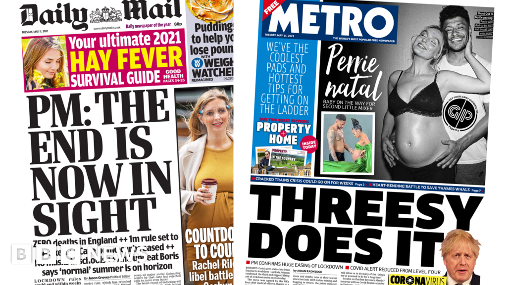 Newspaper headlines: 'End in sight' but let's 'use common sense'