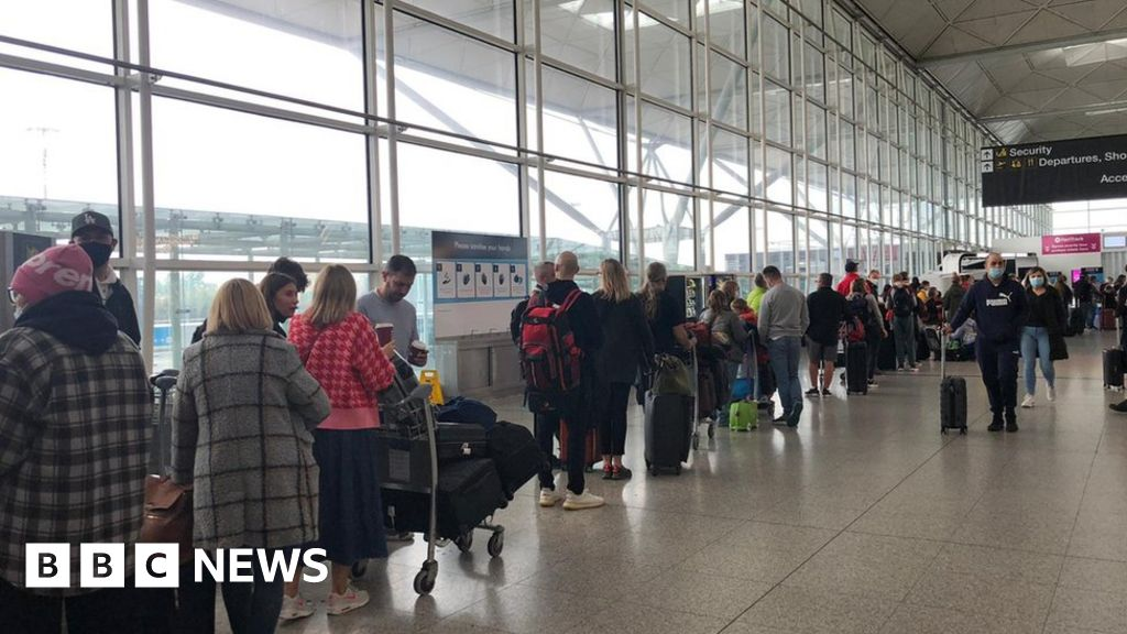 Stansted Airport: Flights missed amid baggage system  chaos