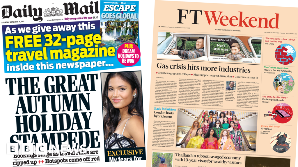 The papers: Holiday bookings 'surge' and gas price rises thumbnail