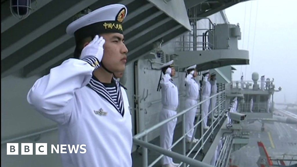 On board a Chinese naval ship