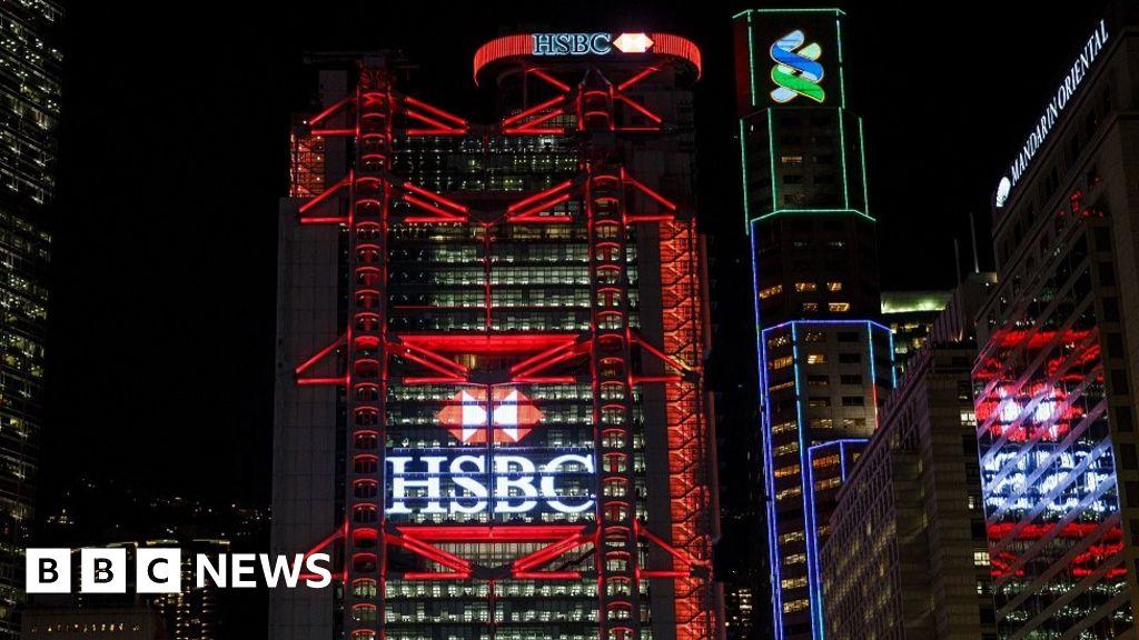 HSBC shares slide after 62% profit fall - BBC News