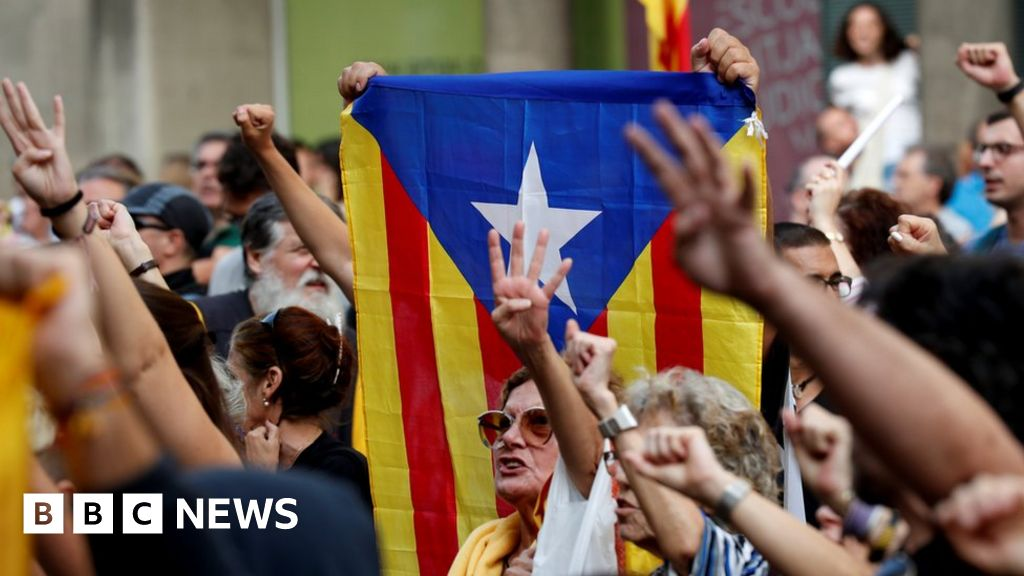 <b>Spain court gives Catalan leaders long jail terms</b>