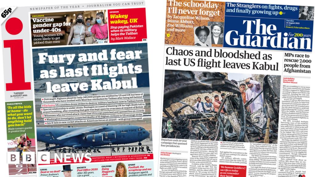 Newspaper headlines: 'Fury' and 'chaos' as last US flight leaves Kabul thumbnail