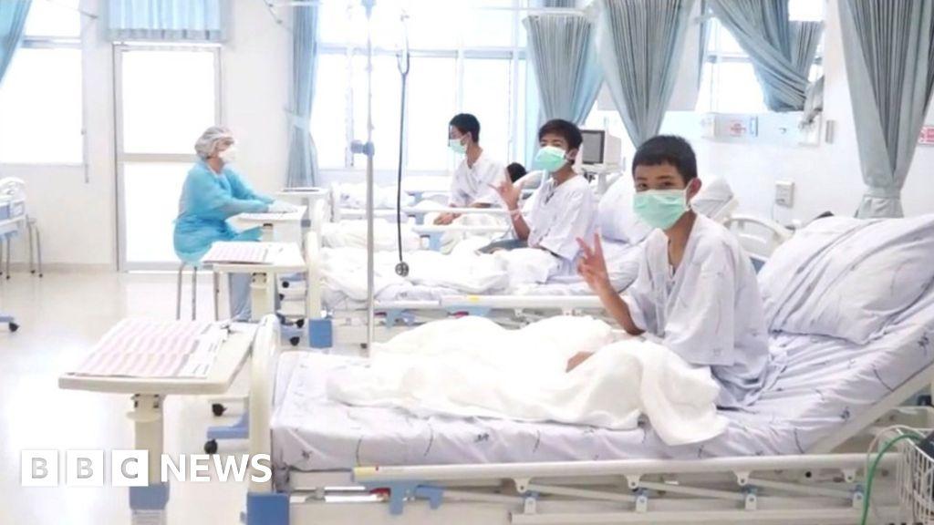Thailand's cave boys leave health center thumbnail