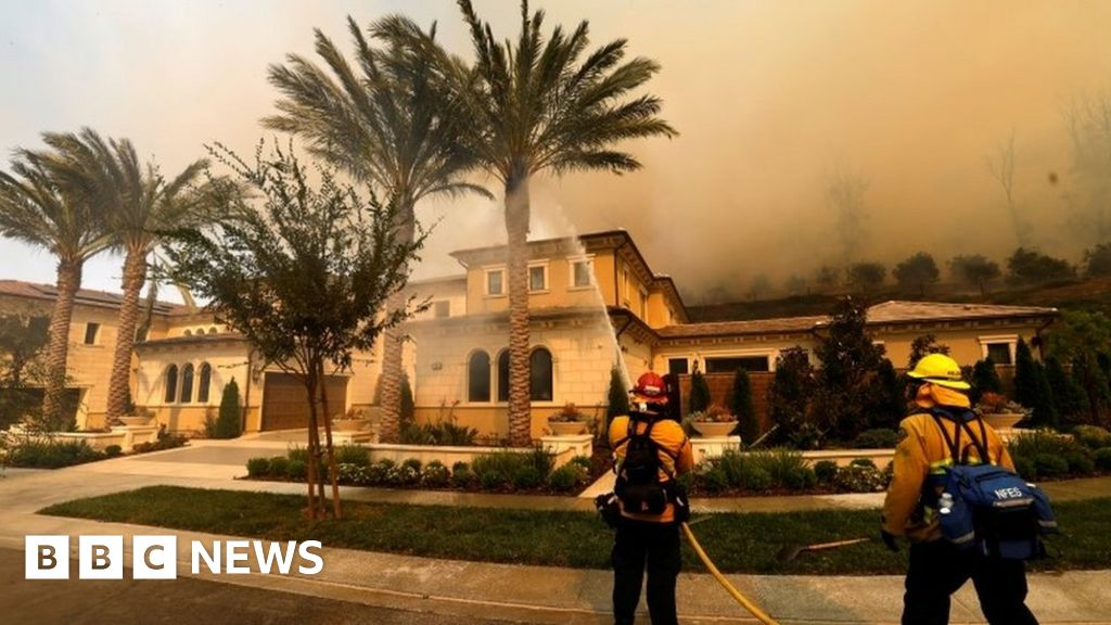 In pictures: Silverado wildfire rages in California
