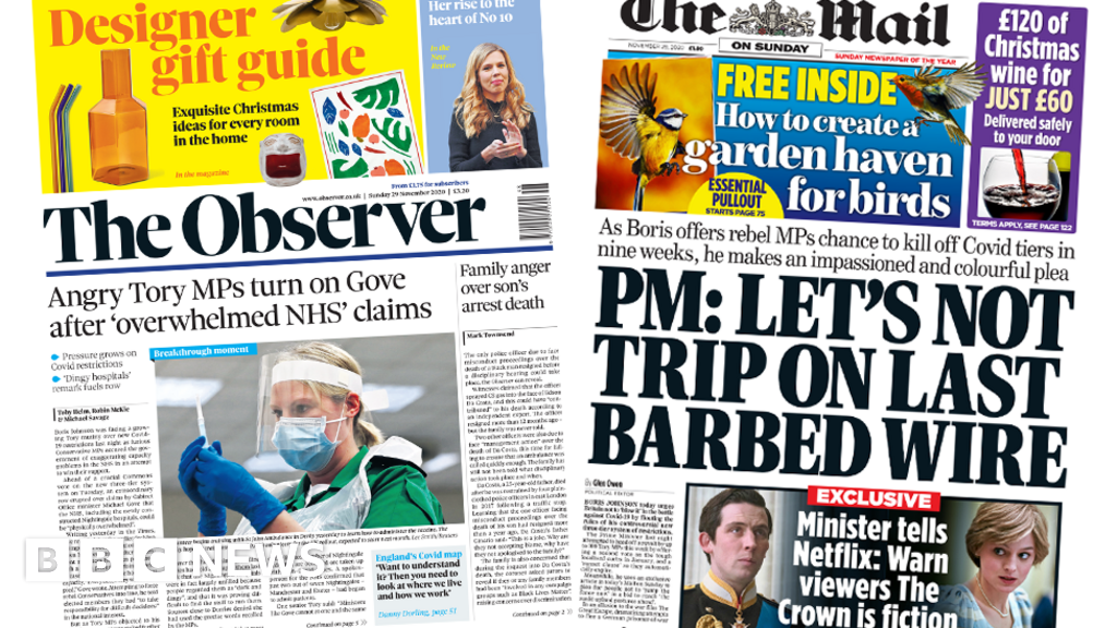 Newspaper headlines: Tory MPs' hospital anger, and PM 'in retreat'
