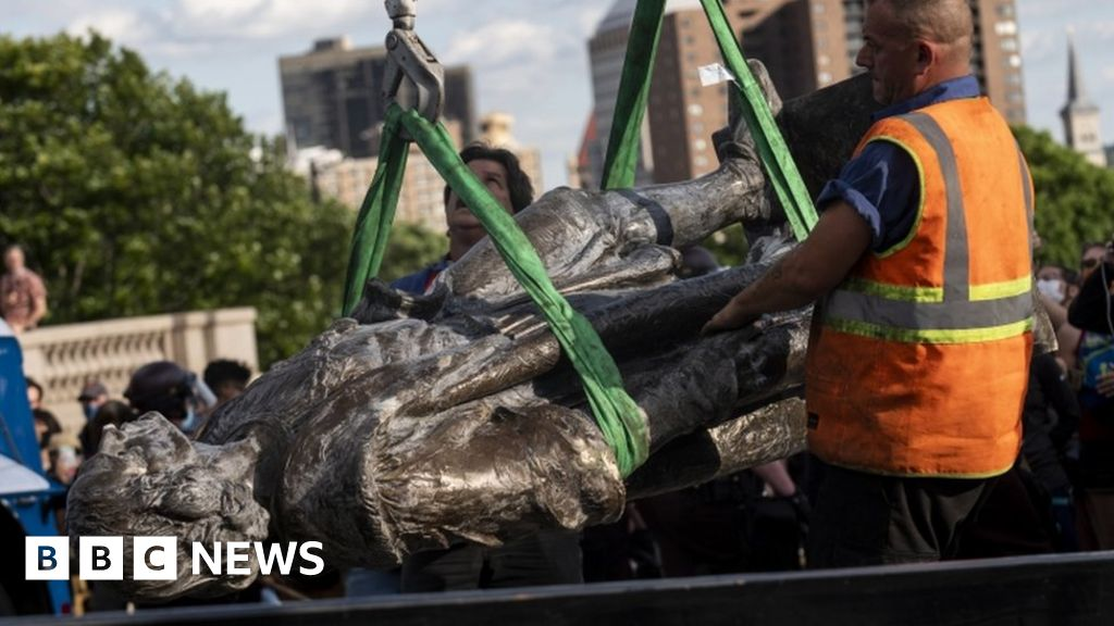 Confederate and Columbus statues overthrown, the US protesters