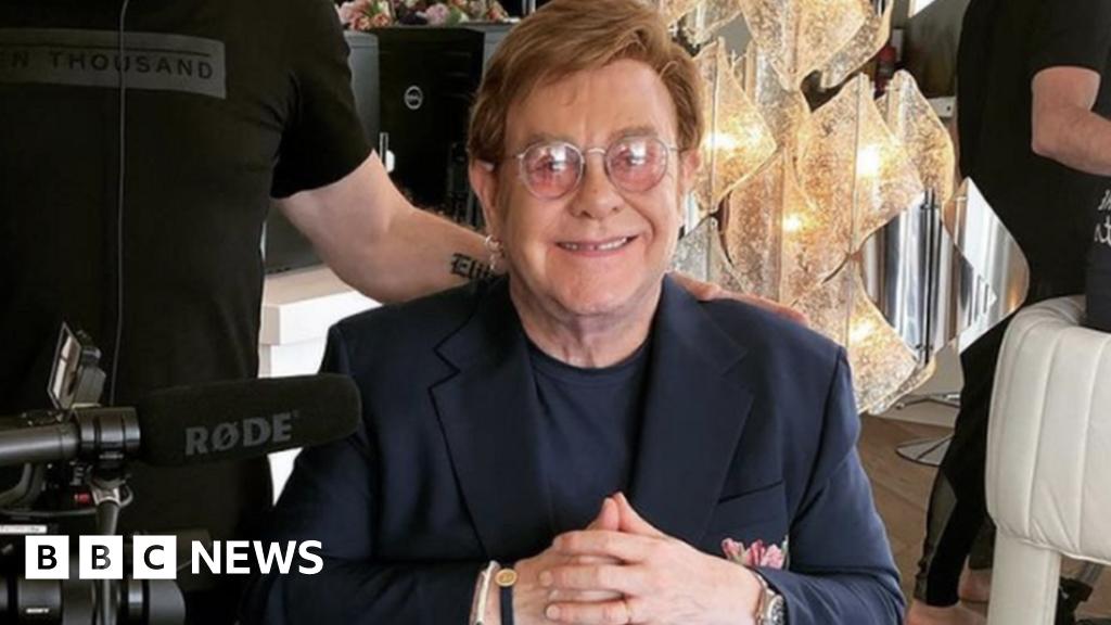 Stars stay home for Elton John`s benefit gig