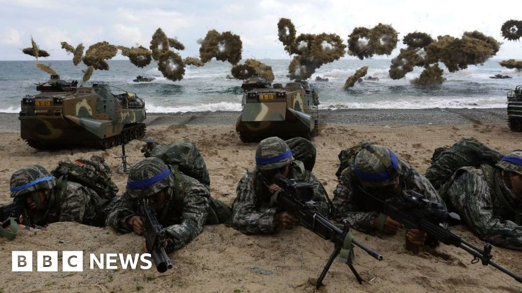 What are the US-South Korea war games?