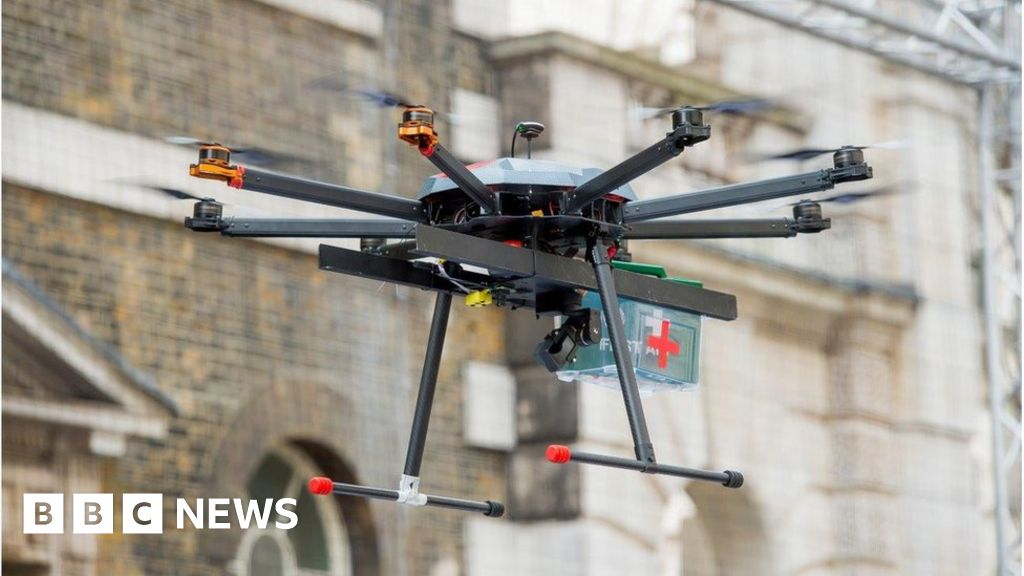Drones to the rescue! - BBC News