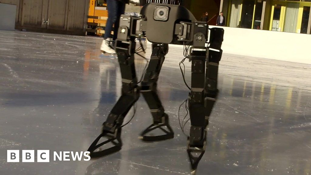 Robot Teaches Itself to Ice-skate