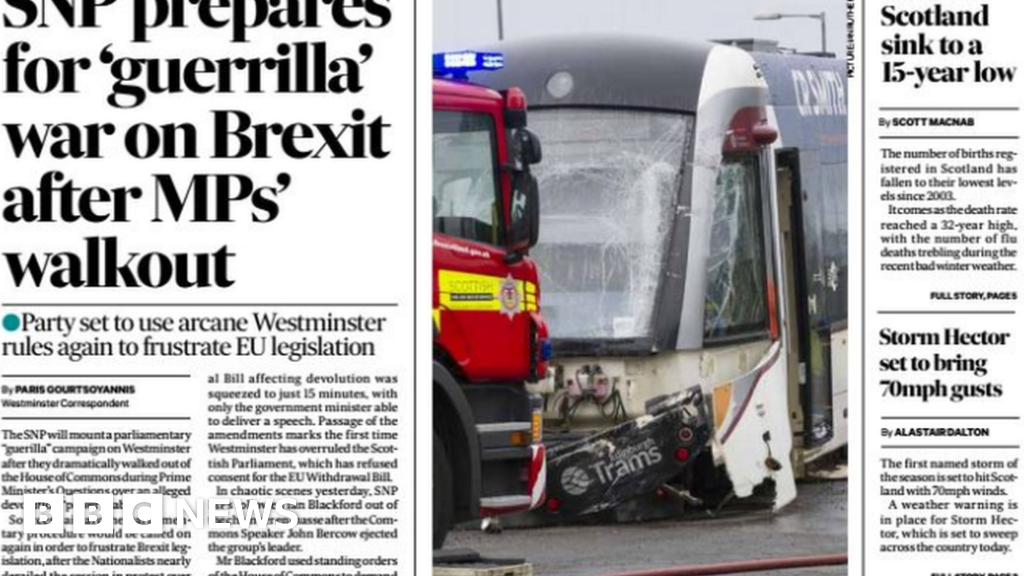 The papers: SNP preparing for 'guerrilla war' on Brexit