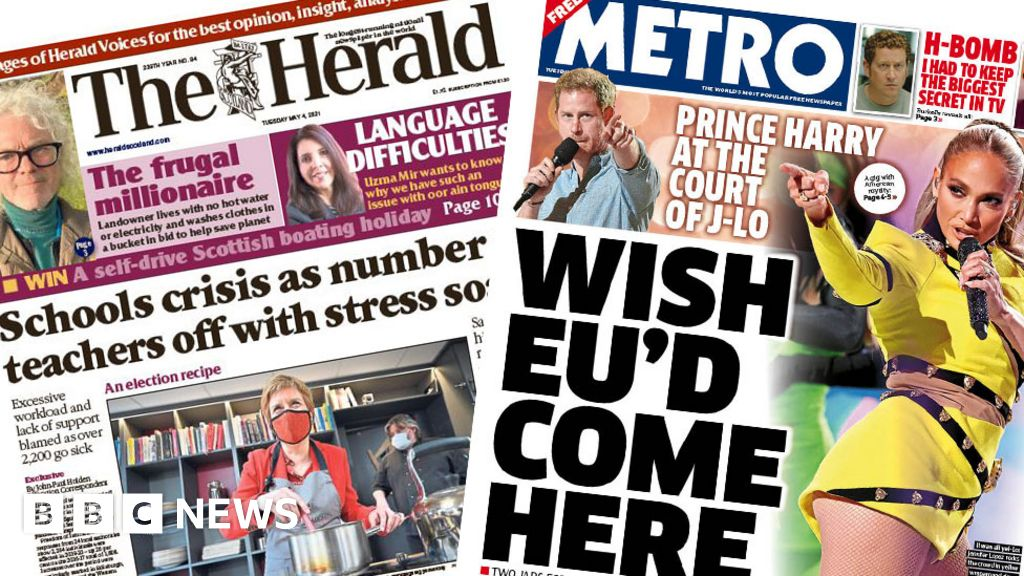 Scotland's papers: Europe to open to tourists, and teachers stress crisis