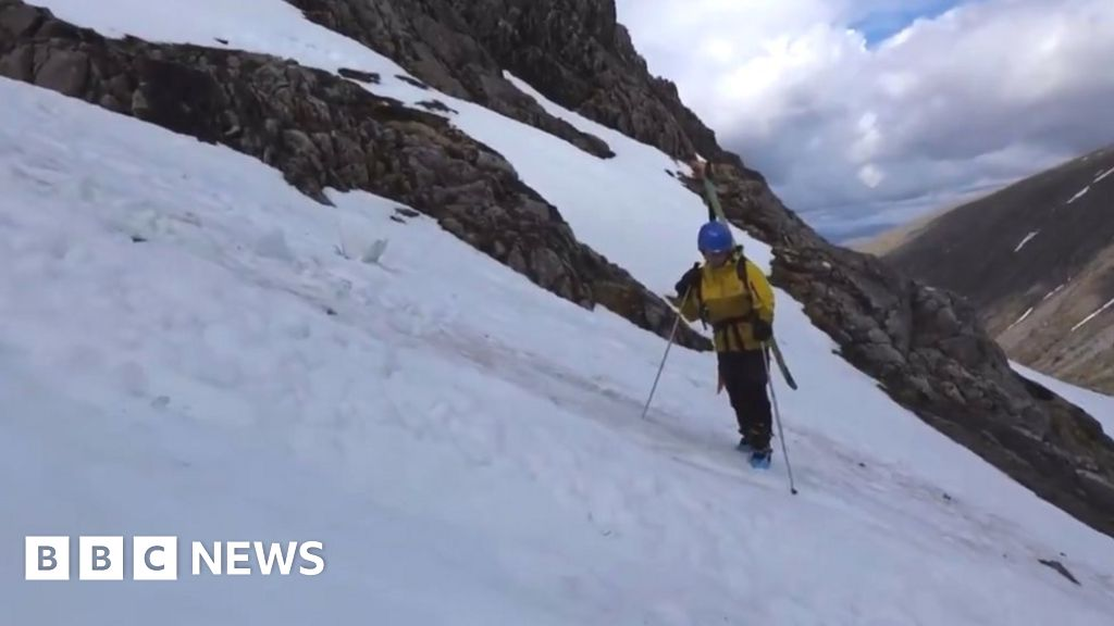 Skiers encounter 'slow motion' avalanche on Ben Nevis