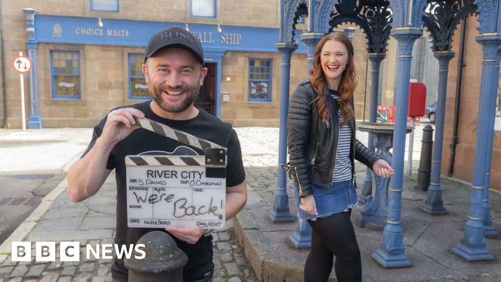 Coronavirus: Filming resumes on Scottish soap River City thumbnail