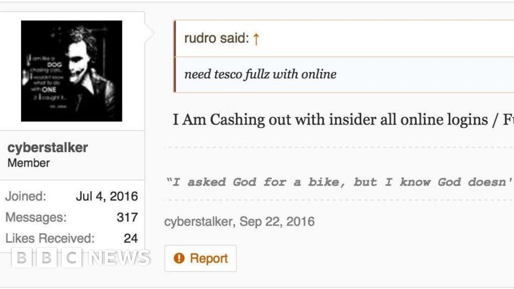 Dark web hackers boast of Tesco Bank thefts - BBC News