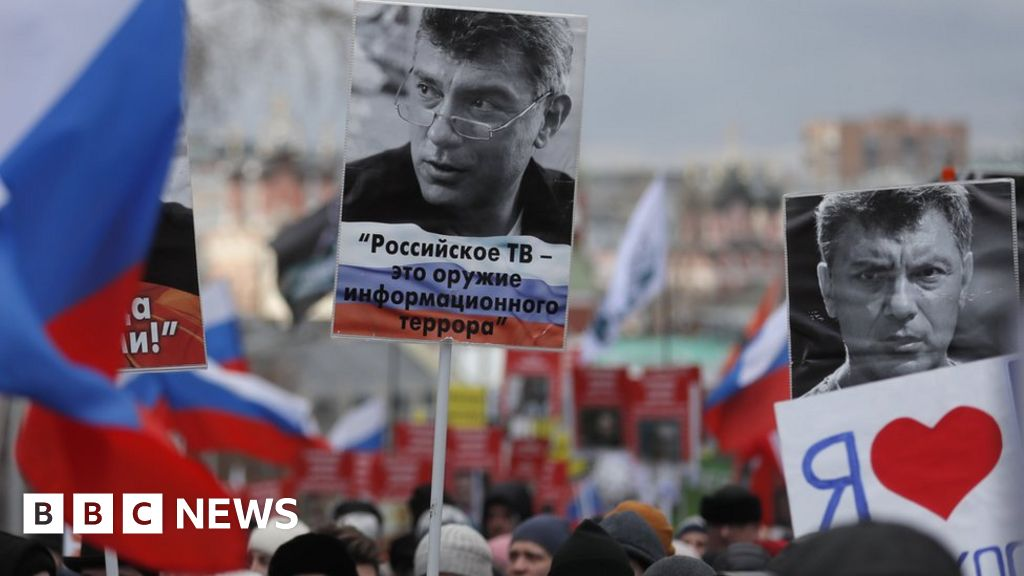 Boris Nemtsov: the Russians March in memory of the killed Putin-opponent