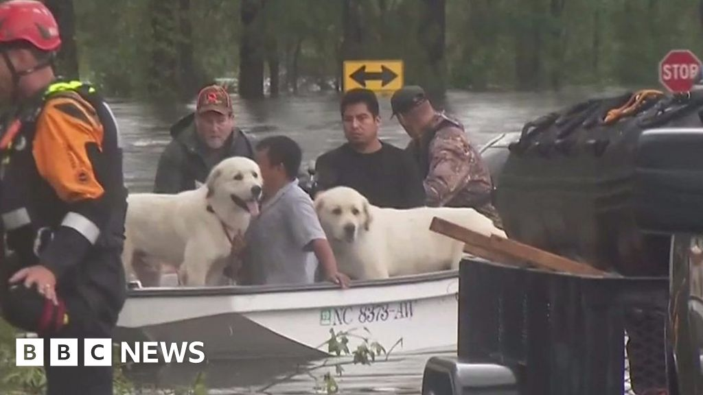 Storm Florence: Floodwaters rise in North Carolina - BBC News