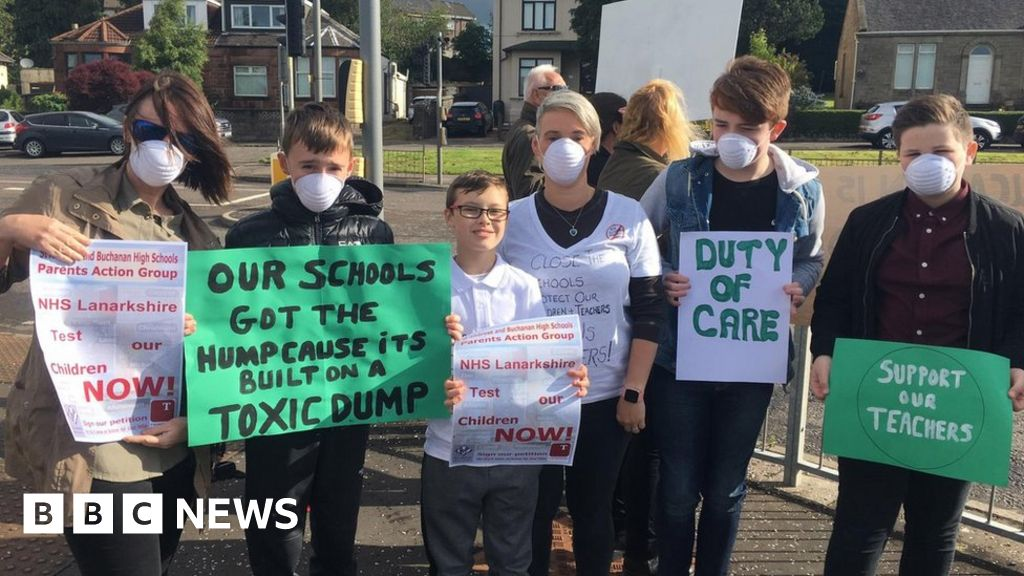 Coatbridge's Buchanan High teachers strike over health fears