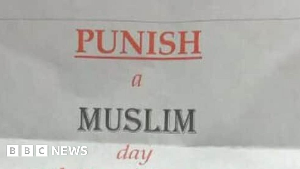 Posters Met Letter : Punish a muslim day letters probed by terror police bbc news