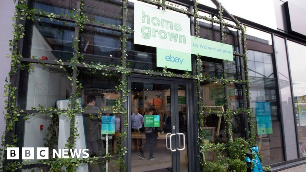 7b3b15aa0f eBay small businesses pop-up shop opens in Wolverhampton - BBC News
