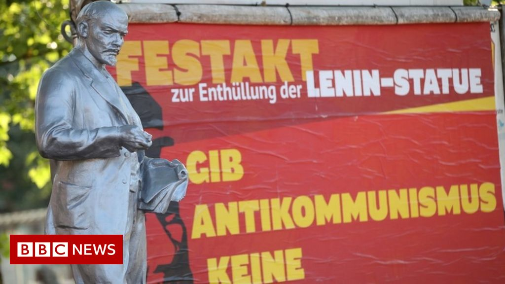 Gelsenkirchen, Germany: a Controversial statue of Lenin erected in the German city of